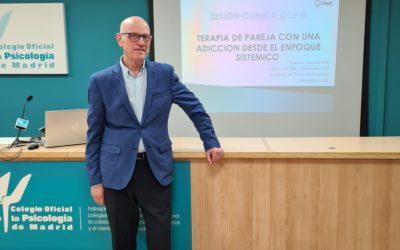 Sesión Clínica: «Terapia de Pareja con una adicción desde el Enfoque Sistémico en COP Madrid – Eduardo Brik